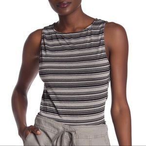 Michael Stars Striped Cropped Tank Top